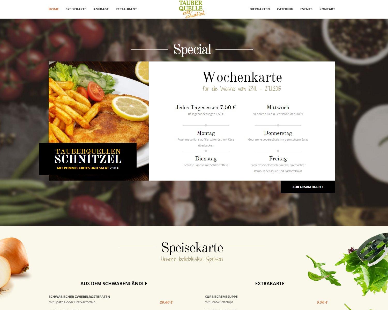 Case Study - Restaurant Tauberquelle Stuttgart