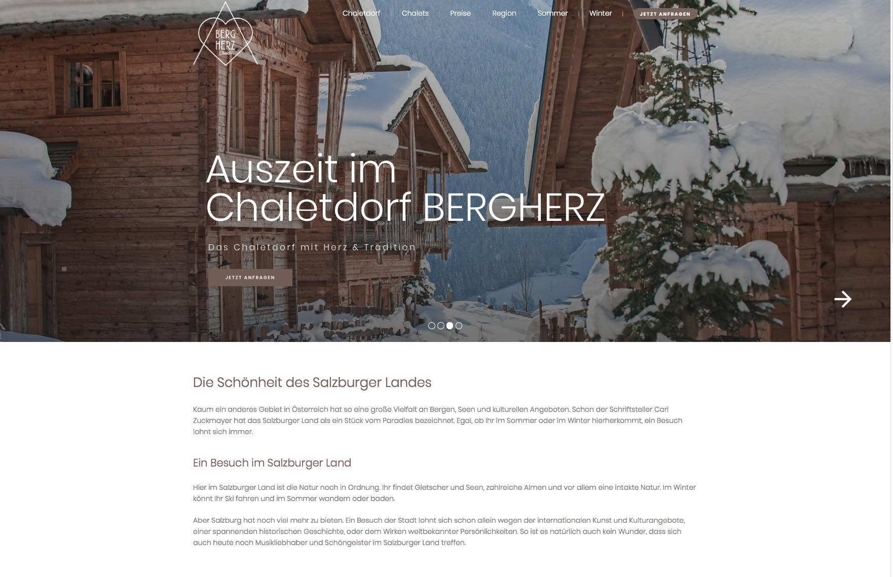 Case Study -  BERGHERZ Chalets